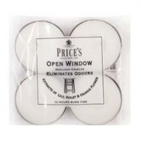 Price's Candles Maxi Tealight 4 Pack - Open Window